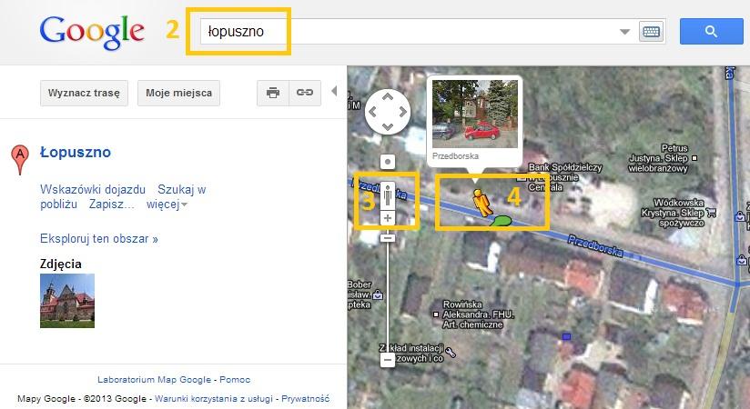 Mapy Google Instrukcja